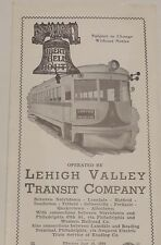 Lehigh Valley Transit 1950  Public Timetable  7-14-50