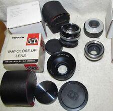 Vtg Lens Lot TIFFEN SLR Close Up/Vivitar Converter Yashica Bayonet/Canon + J0016