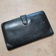 "Coach Vintage Soft Leather Envelope Wallet Snap Close + Kiss Lock 7"" x 4"""