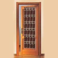 24 Pocket Hanging Over Door Shoe Organiser Storage Rack Tidy Space Saver BL3