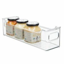mDesign Slim Plastic Kitchen Pantry Cabinet Food Storage Bin - Clear