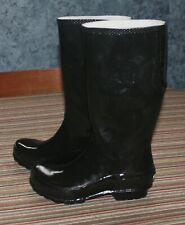 Crocs Tall Glossy Black Rubber Rain Boots 202198 Size 7