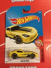 2013 SRT Viper #199 Yellow 2017 Hot Wheels Case J