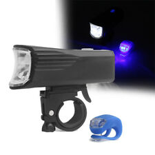 Usb Rechargeable Led Bicycle Bright Bike Front Tail Headlight Lamp Us