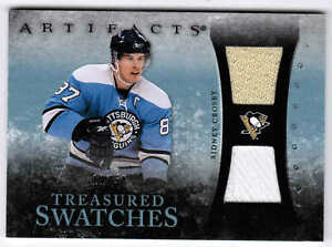 10/11 UD ARTIFACTS SIDNEY CROSBY TREASURED SWATCHES JERSEY/PATCH /50 PENGUINS