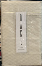 OAKE - Piquet 400 Thread Count King Pillowcases- Set of 2 - NIP - $90