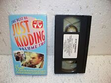 The Best of Just Kidding Vol. 2 VHS Video    As Seen On TV  Practical Jokes