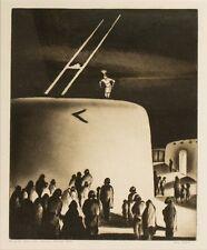 Gene Kloss Listed Taos, NM Eve Of The Green Corn Ceremony, Domingo Pueblo 1934