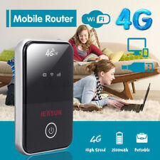 4G LTE WiFi Wireless Portable Router 150Mbps Mobile Broadband Hotspot Black