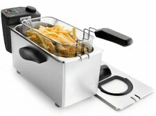 Edelstahl Fritteuse 3,5 Liter mit Fenster 2000 Watt 190°C