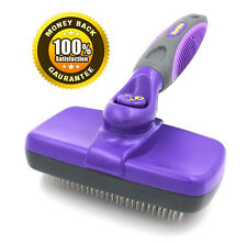 Hertzko Self Cleaning Slicker Brush - Gently Removes Loose Undercoat.