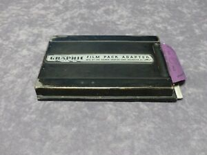 GRAFLEX  GRAPHIC MODEL 2 4x5 FILM PACK ADAPTER W/FILM PACK FOR FILM OR WET PLATE
