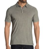 John Varvatos Star USA Men's Short Sleeve Polo Shirt Garment Washed Gunmetal