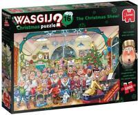 Jumbo Wasgij 16 The Christmas Show Jigsaw Puzzle Children Fun 2 x 1000 Pieces