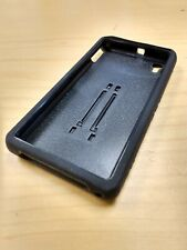 Black layered Case for Sony Xperia Z1S with skin & stand