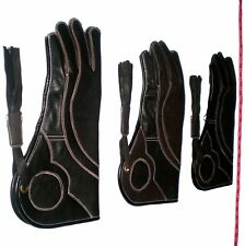 Falconry Glove Triple Skinned Nubuck Leather 14 Inches Long 3 Layers (All Sizes)