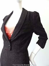 REVIEW - NEW - Women's Jacket Black 3/4 Sleeve Crop Size 10  US 6