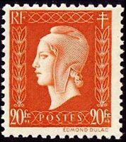 "FRANCE STAMP TIMBRE N° 700 "" MARIANNE DULAC 20F "" NEUF xx LUXE"