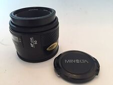 Minolta AF Maxxum 50mm F1.7 Near Mint Tested Fully Working