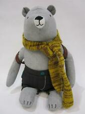 New - Bear Plush Toy - with Scarf and Back pack - RRP $30