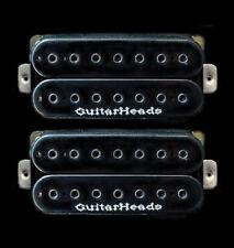 Guitar Parts GUITARHEADS PICKUPS HEXBUCKER HUMBUCKER - 7 STRING - SET 2 - BLACK