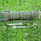 10m 9.5mm Rock Climbing Auxiliary Rope Mountaineering Camping Cord Army Green