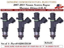 4 Fuel Injectors OEM Bosch for 07-11 Nissan Sentra Rogue Altima Murano 2.5L I4