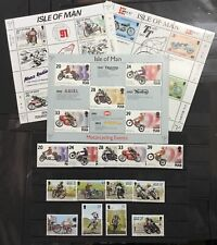 """MOTORCYCLES, MOTORCYCLES"" - ISLE OF MAN THEME COLLECTION. MNH (**)"