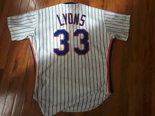 New York Mets Barry Lyons Game Used 1987 Home Uniform #33