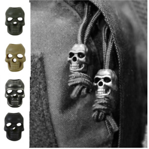 Pack10 Skull Cord Locks Stoppers Toggle Tactical Military Airsoft EMO Punk