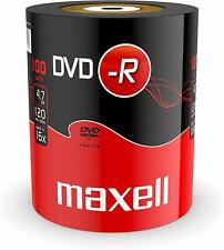 100 Maxell DVD-R 16x 4.7GB 120min Blank Recordable DVD Disks In Shrinkwrap