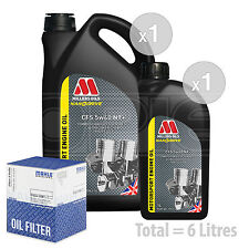 Engine Oil and Filter Service Kit 6 LITRES Millers NANODRIVE CFS 5w-40 NT 6L