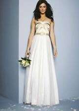 Nicholas Millington Belted Prom Wedding Dress Gown   UK 6