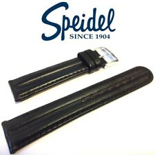 20mm SPEIDEL 535720 HEAVY SADDLE BLACK OIL-TANNED DURABLE WATCH BAND STRAP