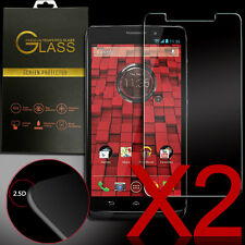 x2 Real Premium Tempered Glass Screen Protector for Motorola Droid Ultra XT1080