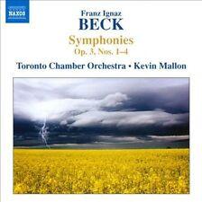 Franz Ignaz Beck: Symphonies Op. 3, Nos. 1-4 (CD, Jun-2010, Naxos (Distributor))