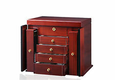 New High Quality Diplomat Teak Wood Jewelry Chest / Storage Box