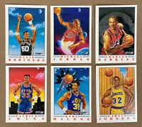1991 Fleer Pro Visions Basketball Card Set 1-6 Jordan Barkley Johnson Ewing