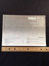 Yamaha R-7 Stereo Receiver Original Owners Manual r7