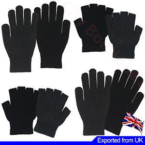 Men Women Gripper Gloves Full Hand Fingerless Non Slip Safety Work Cycling Gym