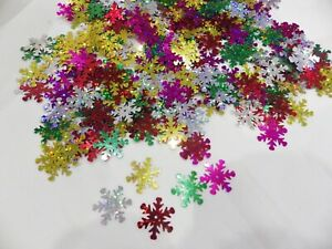 20g x 20mm Hologram Snowflake Sequins - approx. 350 per pack