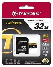 Transcend Ultimate Micro SDHC UHS-I 32GB 4K MLC Micro SD Card TS32GUSDU3M Camera