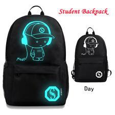 Unisex Light Preppy Teenagers Noctilucent Cartoon School Bags Student Backpack