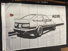 Toyota AE86 Trueno Large Hanging Flag Banner Garage WorkShop or Man Cave