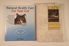 Lot (2) NATURAL HEALTH CARE FOR YOUR CAT & Cats - Homoeopathic Remedies