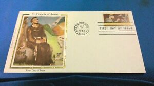 Scott #2023 20 cent stamp honoring St. Francis of Assisi first day issue