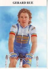 CYCLISME carte cycliste GERARD RUE équipe CASTORAMA
