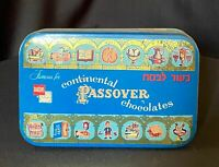 Vintage 1953 Bartons Famous For Continental Passover Chocolate Tin Kosher Jewish
