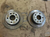 81-85 Mercedes R107 380SL Pair Of Rear Disc Brake Rotors