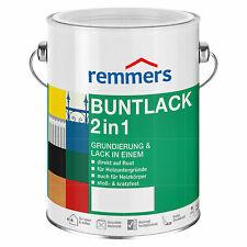 Remmers Buntlack 2in 1 2,5 L RAL 9006 Grundierung Rostschutz hochglänzend